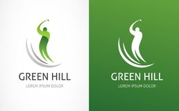 Icône, symbole, élément et logo de club de golf illustration libre de droits