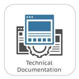 Icône technique de documentation Vitesse et pages Web Symbole de développement Image stock