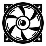 Icône thermique de fan, style simple Photographie stock libre de droits