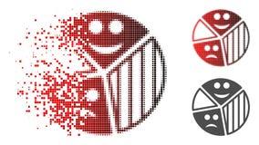 Icône tramée déchiquetée de diagramme de tarte d'émotion de Pixelated illustration de vecteur