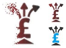 Icône tramée d'Aggregator de livre de pixel de la poussière Illustration de Vecteur