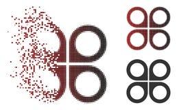 Icône tramée de bourdon d'air de pixel mobile illustration stock