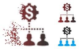 Icône tramée de clients d'Industrial Bank de pixel de la poussière illustration libre de droits