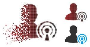 Icône tramée de disparition de créateur de Podcast de pixel illustration libre de droits