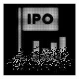 Icône tramée dispersée par blanc d'histogramme de Pixelated IPO illustration de vecteur