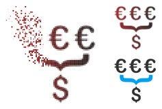 Icône tramée dissoute d'Aggregator de conversion du dollar de pixel euro Illustration de Vecteur