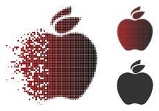 Icône tramée endommagée de Pixelated Apple Illustration Libre de Droits