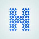 Icône tramée moderne de logo de la lettre H Dirigez la ligne bleue futuriste conception numérique à la mode de point de signe pla illustration de vecteur