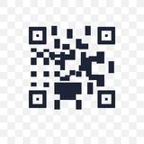 Icône transparente aux codes de Qr Conception de symbole de code de Qr du commerce électronique c illustration libre de droits