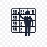 Icône transparente de bibliothécaire La conception de symbole de bibliothécaire de professent illustration libre de droits
