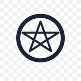Icône transparente de satanisme Conception de symbole de satanisme de religion illustration stock