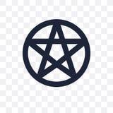 icône transparente pentagrammic conception pentagrammic de symbole de G illustration stock