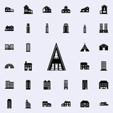 Icône triangulaire de maison logez l'ensemble universel d'icônes pour le Web et le mobile illustration libre de droits