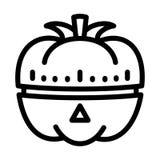Icône végétale de minuterie de cuisine, style d'ensemble illustration stock