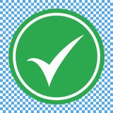 Icône verte de liste de contrôle, vecteur d'icône de marque de chec illustration de vecteur