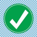 Icône verte de liste de contrôle, vecteur d'icône de marque de chec illustration libre de droits