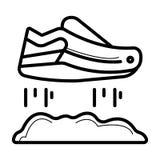 Icône volante de chaussure illustration libre de droits