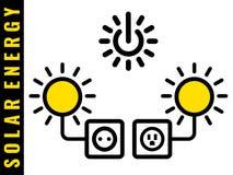 Icônes à énergie solaire Images libres de droits