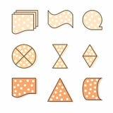 Icônes à la mode élégantes créatives en cercle illustration stock