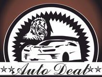 Icônes automatiques d'insigne d'affaire de voiture, logo pour le concept mobile et apps de Web Illustration Libre de Droits