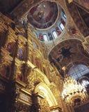 Icônes chrétiennes d'icône d'un dieu de religion de kyiv de lavra de Kiev d'église orthodoxe de foi Photographie stock