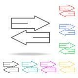 Icônes colorées de signal de direction Élément de coudre l'icône colorée multi pour les apps mobiles de concept et de Web Ligne m Image libre de droits