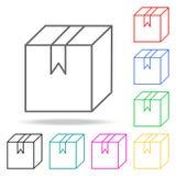 icônes colorées par boîte Élément de coudre l'icône colorée multi pour les apps mobiles de concept et de Web Ligne mince icône po Images libres de droits