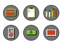Icônes créatives pour des affaires en cercle illustration libre de droits