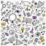 Icônes d'école illustration stock