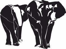 Icônes d'éléphant, logo pour le concept mobile et apps de Web illustration de vecteur