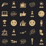 Icônes d'émotion réglées, style simple illustration de vecteur
