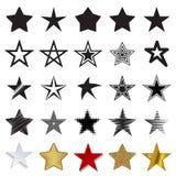 Icônes d'étoile sur un fond blanc Illustration Stock