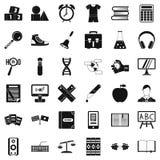 Icônes d'ABC réglées, style simple illustration stock