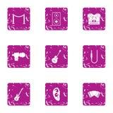 Icônes d'accroc réglées, style grunge illustration libre de droits