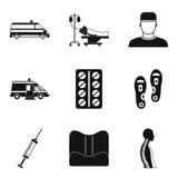 Icônes d'acte médical réglées, style simple illustration stock