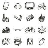 Icônes d'adolescent à main levée Photo stock