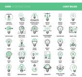 Icônes d'ampoules illustration stock