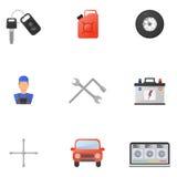 Icônes d'appartement service compris de voiture réglées Photographie stock libre de droits