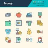 Icônes d'argent Collection remplie 33 de conception d'ensemble Pour le presentati Photo stock
