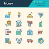 Icônes d'argent Collection remplie 34 de conception d'ensemble Pour le presentati Images stock