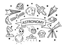 Icônes d'astronomie réglées illustration libre de droits