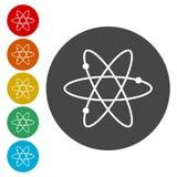 Icônes d'atome réglées illustration stock