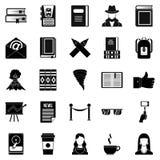 Icônes d'auteur réglées, style simple Photos libres de droits