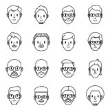 Icônes d'avatar d'hommes Illustration de vecteur des caractères des hommes illustration stock