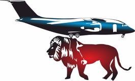 Icônes d'avion d'échine, logo pour le concept mobile et apps de Web illustration stock