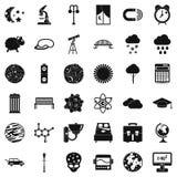 Icônes d'espace lointain réglées, style simple illustration stock