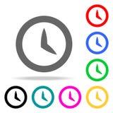 Icônes d'horloge Éléments des icônes colorées par Web humain Icône de la meilleure qualité de conception graphique de qualité Icô illustration de vecteur