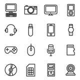 Icônes d'instrument et de dispositif Photographie stock