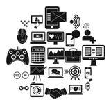 Icônes d'intellect réglées, style simple Images libres de droits