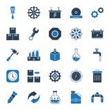Icônes d'isolement industrielles de vecteur qui peuvent être facilement modifiées ou éditées illustration stock
